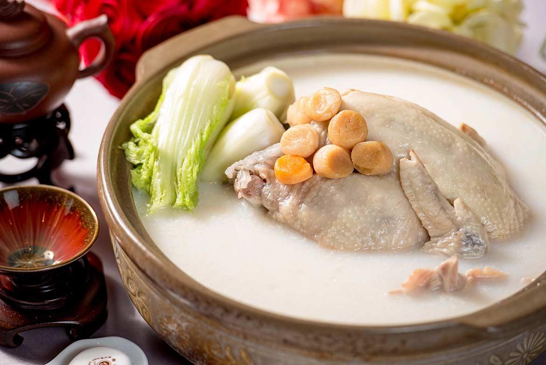 芽白干貝砂鍋雞
