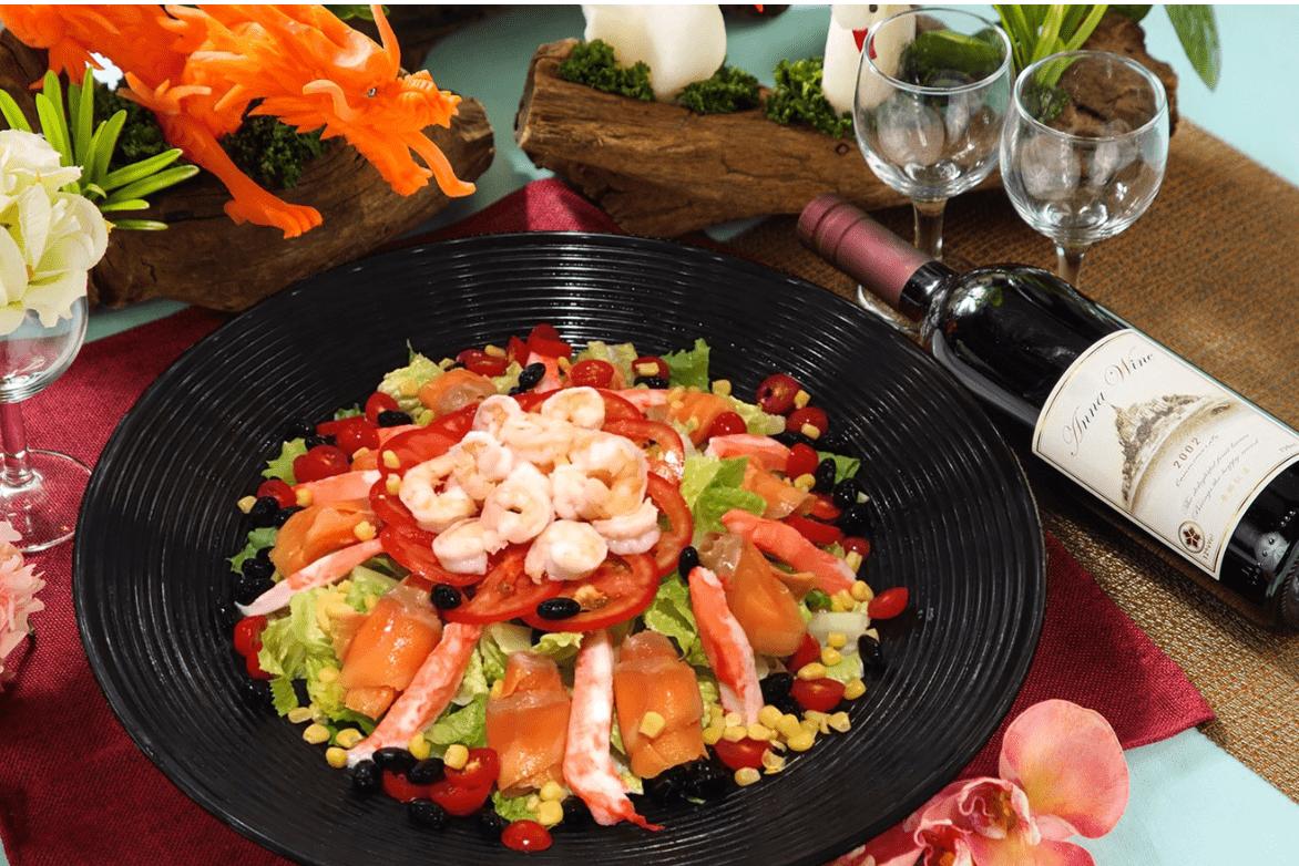 燻鮭和風海鮮蔬果